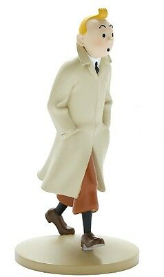 Figurine Tintin en trench coat  n°1 collection officielle Tintin New