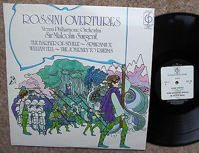 Sir Malcolm Sargent Vienna Phil Rossini Overtures Cfp 125 Excellent Condition