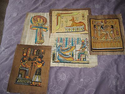 Egyptian Papyrus...hand Painted...pharaoh...hieroglyphics...