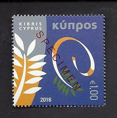 CYPRUS: Council of Europe; Christmas. SPECIMEN overprints. N/H Mint stamps.