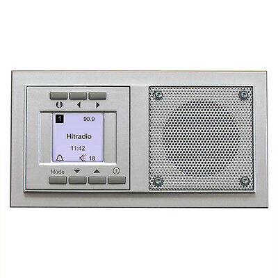 Siemens UP Radio Uhr & Alarm function Flush-mounted in-wall silber Concealed