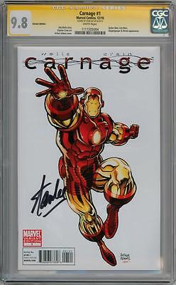 Carnage #1 Iron Man Variant Cgc 9.8 Signature Series Signed Stan Lee Movie
