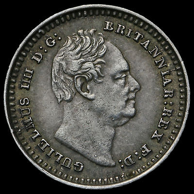 1835 William IV Milled Silver Three-Halfpence, 5 over 4, EF