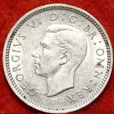 Uncirculated 1944 Great Britain 3 Pence Silver Foreign Coin Free S/H