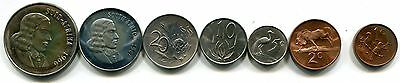 South Africa 1966 Proof Set in Case, Cent through 1 Rand