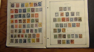 Uruguay stamp collection on Scott International pages to '73