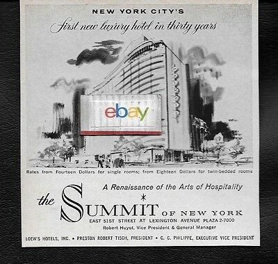 The Summit Hotel From Loews In New York City First New Hotel In 30 Years Ad