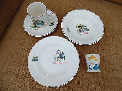 Vintage Lone Ranger Old Keele St Pottery Cup And Plate Set 1961 Rare