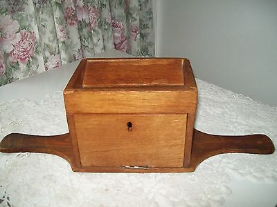 Wooden Two Handled Collection Box