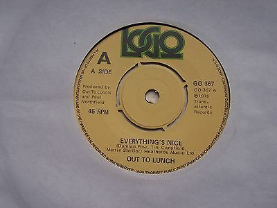 Out To Lunch, Everything's Nice / Jeepers Creepers. Original 1976 Logo Single