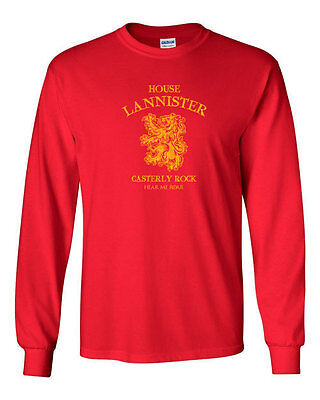 205 House Lannister Long Sleeve Shirt sigil game lion thrones king imp tyrion