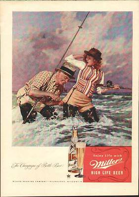 1947 Beautiful artistic ad for Miller Beer
