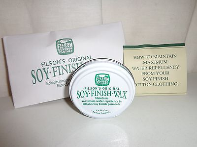 New Filson Made In Usa Soy Finish Wax 1 1/8 Fl Oz.