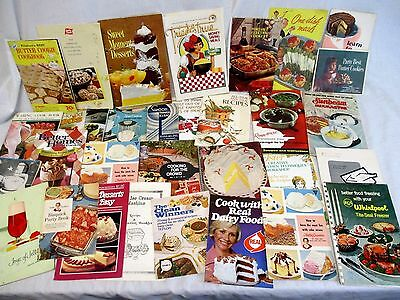 Lot 34 Vintage Advertising Appliance Recipe Pamphlets Cook Books (579)