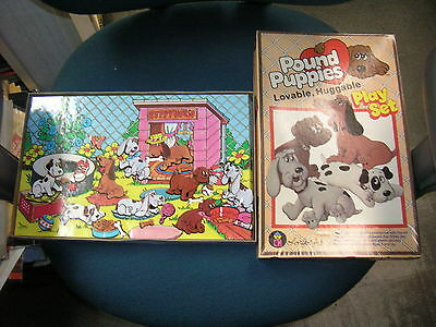 "POUND PUPPIES COLORFORMS Playset (1985) 12 x 8 x 1"" box"