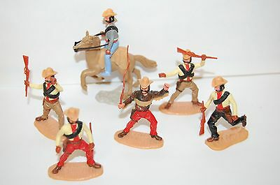 6 Vintage Timpo Cowboys And Some Spare Heads