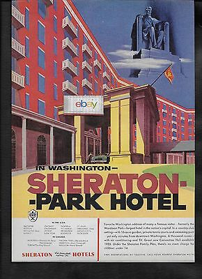 Sheraton Park Hotel In Washington D.c. 1954 Largest Hotel In Capital Ad