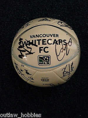 2012 Vancouver Whitecaps 24 x Team Signed Autographed 2012 MLS Soccer Ball COA