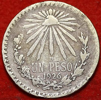 1926 Mexico Peso Silver Foreign Coin Free S/H