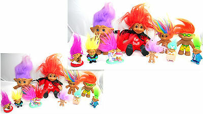 Vintage Russ Troll Dolls  Lot Collectible Figures Toys