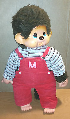 "AUTHENTIC! Huge 30"" Sekiguchi doll - vintage 1974 Futago No Monchhichi - monkey"