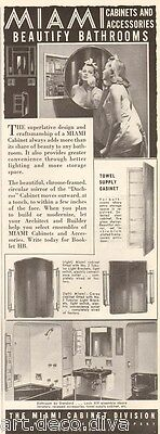 1950s Vintage MIAMI Bathroom Bath MEDICINE CABINET Art Deco BEAUTY Mirror AD