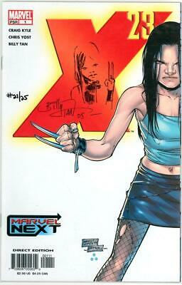 X-23 #1 & 2 Signed Remarked Sketch Set Billy Tan Coa Ltd 25 Logan Marvel Movie