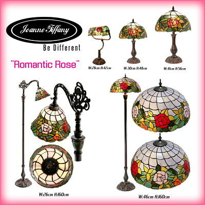 """Romantic Rose"" STYLE REAL STAINED GLASS HANDCRAFTED TIFFANY LAMP(5 Types)"