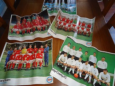 VINTAGE 1960'S Esso Football Posters- 5 to choose from