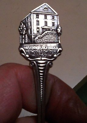 Vintage Sterling Silver  Souvenir Spoon Handle Is A Old Church Has Hallmarks