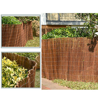 Screen Fencing WILLOW SCREENING ROLL Garden Fence Panel Wooden 4m Long Outdoor