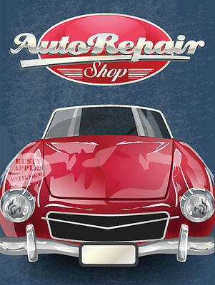 Auto Repair Shop  Vintage Retro Metal Sign Garage:man-Cave:home Decor Ideal Gift
