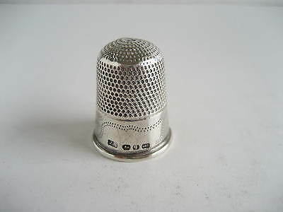 Victorian Solid Silver Decorative Sewing Thimble Birmingham 1890 James Swann