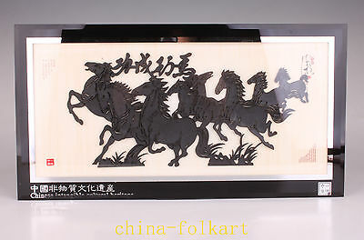 Shadow Play Chinese Intangible Cultural Heritage Horse Pentium Adornment Picture