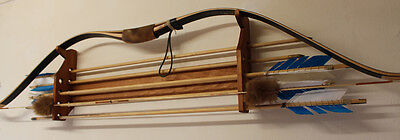Hand-Made Horizontal Bow and Arrow Rack for 8 Arrows Stained Pine