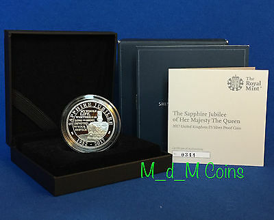 The Queen's Sapphire Jubilee Silver Proof £5 Coin - SOLD OUT - Low Issue# 0344