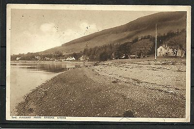 Postcard : The Finnart from Strone Shore posted 1945