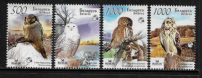 Belarus 626-9 Mint Never Hinged Set - Birdlife International - Owls