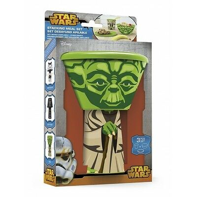 Yoda (Star Wars) Stacking Meal Set  Brand New