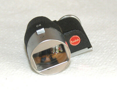 Kodak Retina 35mm and 80mm Shoe Mount Viewfinder in Leather Slip-in Case