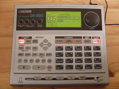 Boss Dr880 Dr Rhythm Drum Machine With Power Supply & Free Uk Post
