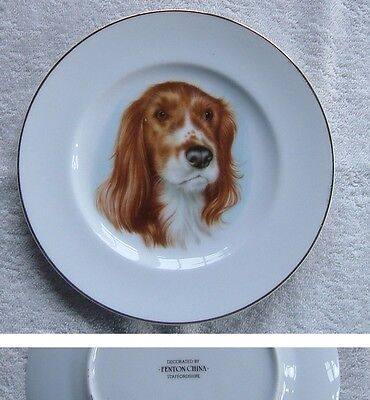 Decorated by FENTON CHINA Plate - Spaniel Dog