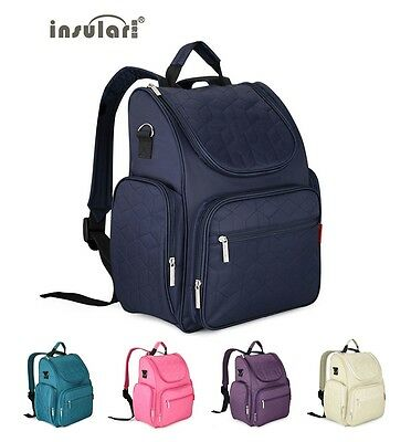 New 210D Nylon Baby Diaper Backpack Heavy Duty Mommy Backpack Nappy Changing Bag