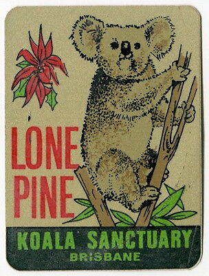 "Souvenir Illustrated Sticker: ""Lone Pine Koala Sanctuary - Brisbane"""