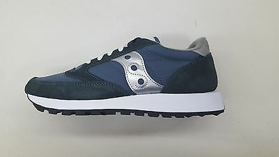 Saucony Jazz Original Navy Blue Silver White Mens Size Running Sneakers 2044-2
