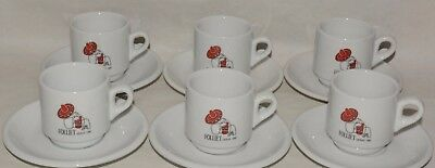 "FOLLIET CAFE 6 Tasses + sous tasse expresso ""Mexicain"" neuf"