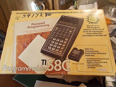 """Vintage (Nos 1978) Texas Instruments Ti 58C Programmable Calculator """"awesome"""""""