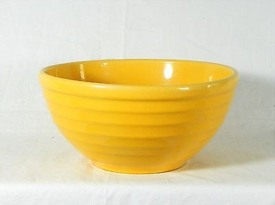 Vintage BAUER POTTERY YELLOW RINGWARE BOWL #18 Exceptional Color + Condition