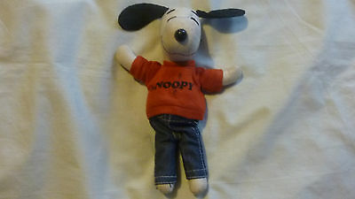 """Vintage 8""""in Snoopy 1970s Soft Toy"""