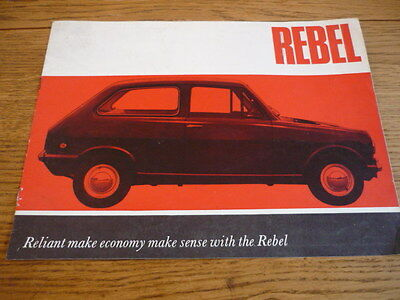 Reliant Rebel Car Brochure